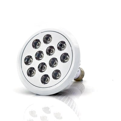 LED Grow Light w/ 12 LEDs, Red, Blue, Orange