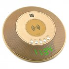 Bluetooth Speaker Wireless Charger Gold