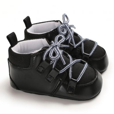 0-1 Years Baby Infant Boys Soft Sole Fashion Baby Shoes Casual Sports Shoes black_12 cm inside length