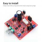 0-30V 2mA-3A Adjustable DC Regulated Power Supply DIY Kit Short Protection(Red Board) Red board