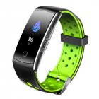 0.96 Inch IPS LCD Screen Smart Watch Blood Pressure Heart Rate Monitor Sports Fitness Tracker green
