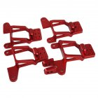 1 10 RC Aluminum Front Rear Shock Tower Hoops Bracket Mount for TRAXXAS TRX 4  red