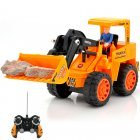 1 10 RC Bulldozer with Rechargeable Battery and Charger   Scoop up sand and drive around just like a real bulldozer