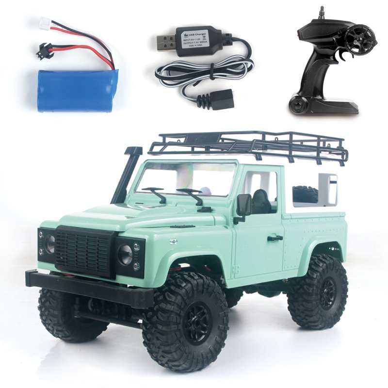 1:12 2.4G Remote Control High Speed Off Road Truck Vehicle Toy RC Rock Crawler Buggy Climbing Car for PICKCAR D90 Kid Boy Toys Vehicle green