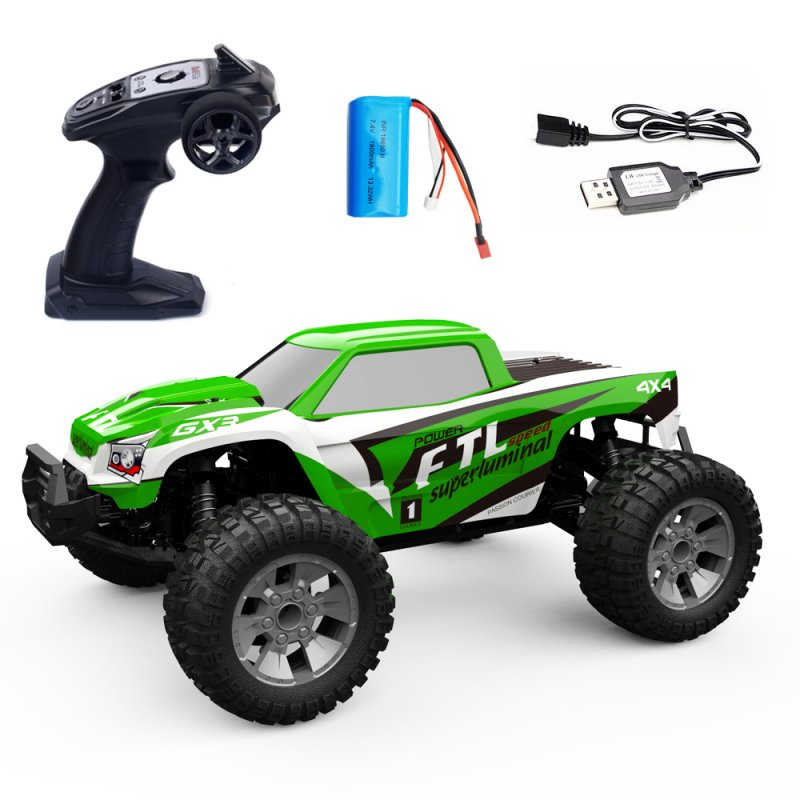 1/12 RC Car 2.4G 4WD 42km/h High Speed  Truck Radio Control Buggy Off-Road Electric Toy green