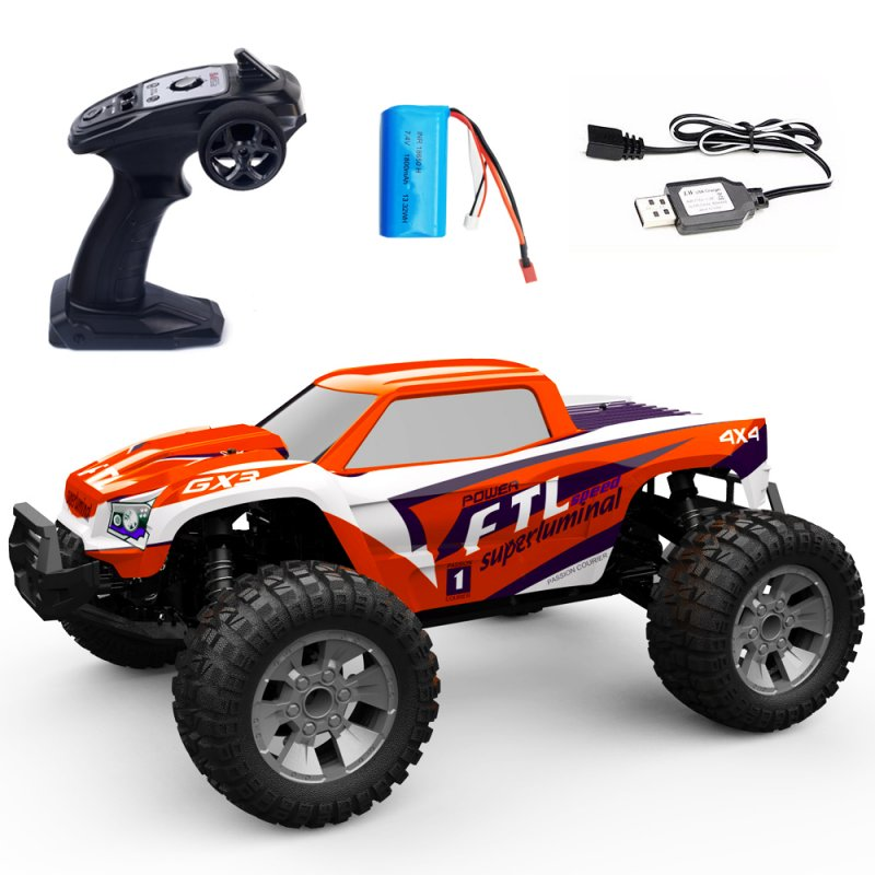 1/12 RC Car 2.4G 4WD 42km/h High Speed  Truck Radio Control Buggy Off-Road Electric Toy red