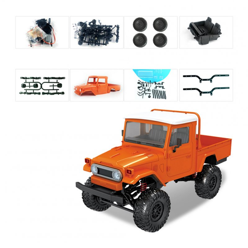 1:12 Simulate RC Car Modeling Toy(Not including Electronics) Orange