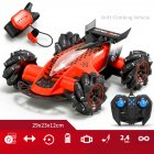 1:14 2.4G RC Stunt Car Gesture Sensing Spray Drift Car 4WD 8CH High Speed with Light Music Play Time 20 Minutes Red_1:14