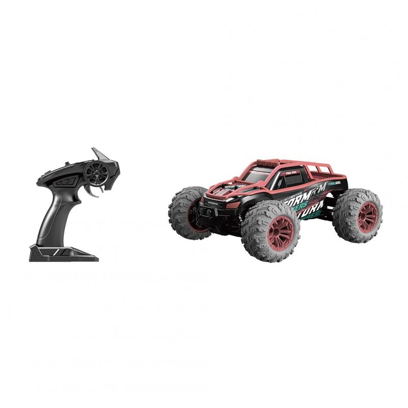 1/14 Scale RC Car Simulation Model Toy Four Wheel Drive Off-road Vehicle Gift for Kids red_G167