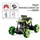 1 16 Rc Cars 4wd Watch Control Gesture Induction Remote Control Car Machine for Radio controlled Stunt Car Toy Cars RC Drift Car 2032 green