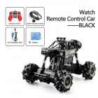 1 16 Rc Cars 4wd Watch Control Gesture Induction Remote Control Car Machine for Radio controlled Stunt Car Toy Cars RC Drift Car 2031 black