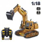 1:18 Engineering Vehicle 10 Channel Remote Control Excavator Simulation Large Electric Toy for Kids 6810L_1:18