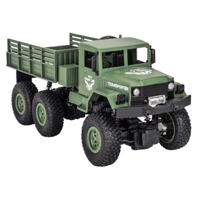 1/18 Six-wheel Remote Control Off-road Vehicle Four-wheel Drive Simulation Children's Toys Q69 Green