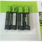 1/2/4pcs Znter USB Rechargeable Battery 400mAh 1.5V AAA Lithium Battery for Remote Control Toy