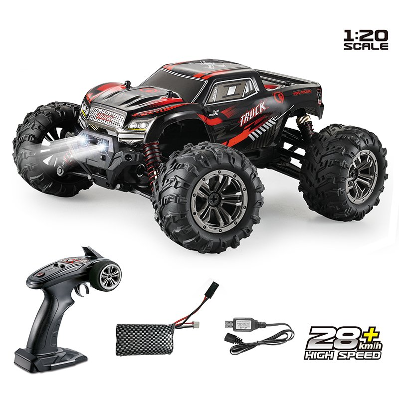 1:20 2.4G 4WD Rechargeable RTR Remote Control 28KM/H High Speed Off Road Crawling Drift RC Cars  red_1:20