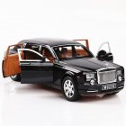 1:24 Alloy Car Model Simulation SUV with Light Sound Pull Back Trunk Doors Open black