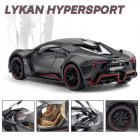 1/24 Alloy Sports Car Model  Toy Pull Back Sound Light Toys Vehicle For Children Kids Gift black