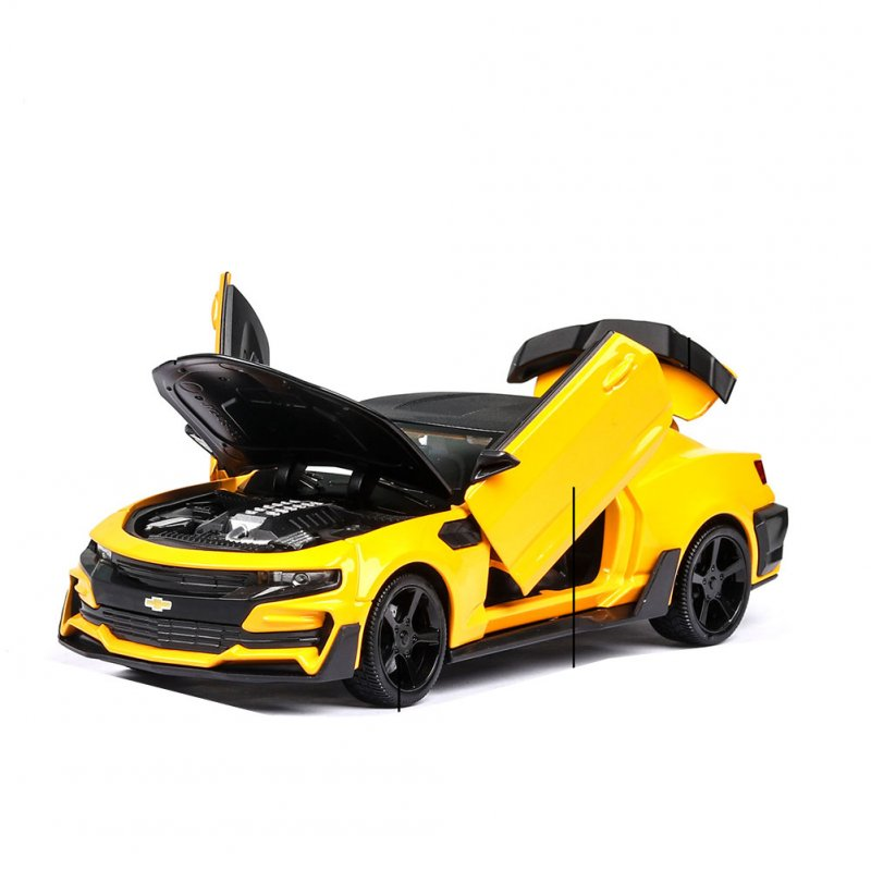 1:24 Children Steering Alloy Car Mould Toy with Rubber Wheel for Decoration yellow