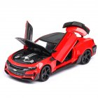 1:24 Children Steering Alloy Car Mould Toy with Rubber Wheel for Decoration red