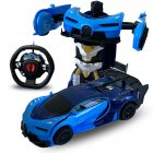 1 24 Deformation Remote Control Car Electric Robot Children Toy Gift Double blue 1 24