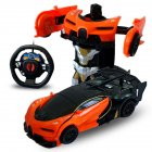 1/24 Deformation Remote Control Car Electric Robot Children Toy Gift Orange+black_1:24
