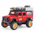 1:28 Simulation SUV Car Model Light Sound 6 Doors Open Alloy Pull Back Auto Toy Collection red