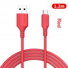 1.2m Micro USB Type-C Android Fast Charging Magnet Liquid Charging Line for Samsung Huawei red_micro