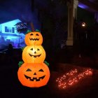 1.2m Pumpkin Shape Inflatable Modeling Halloween Props for Garden Mall Hotel Door Decoration European regulations