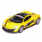 1:32 Alloy Simulate Racing Car Model Toy with Light Sound Function for McLaren P1 (Box Packing) yellow