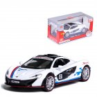 1:32 Alloy Simulate Racing Car Model Toy with Light Sound Function for McLaren P1 (Box Packing) white