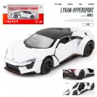 1 32 Alloy Sports Car Model Toy for Children Christmas Gift Decoration white