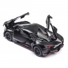 1 32 Alloy Sports Car Model Toy for Children Christmas Gift Decoration Black