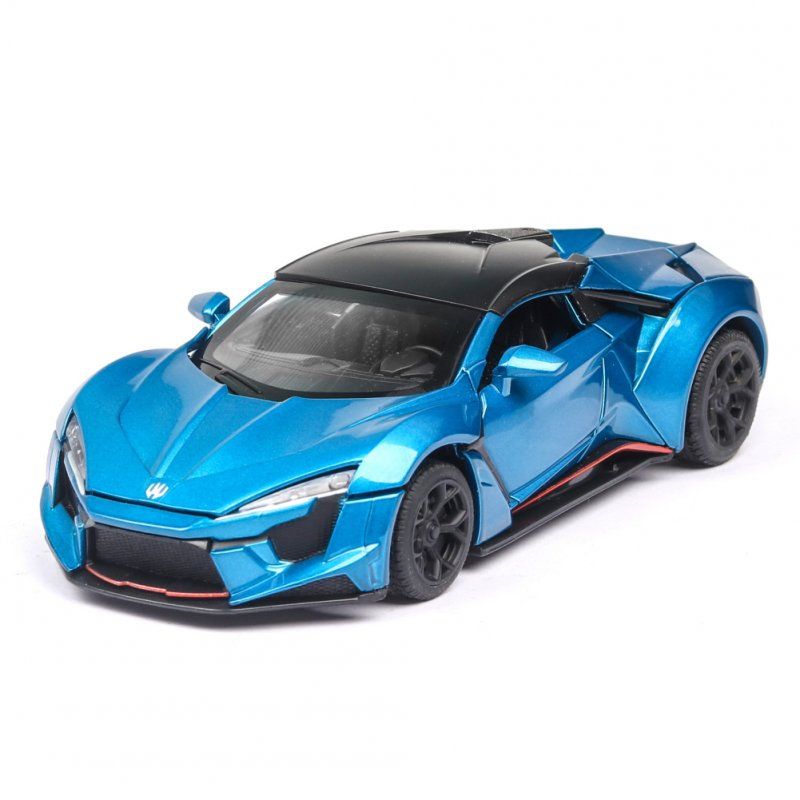 1:32 Alloy Sports Car Model Toy for Children Christmas Gift Decoration blue