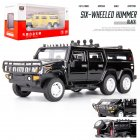 1:32 Car Model for Hummer H2 Off-road High Simulation Alloy Car Model Sound And Light Pull Back Door Boy Car Toy For Children Gifts black
