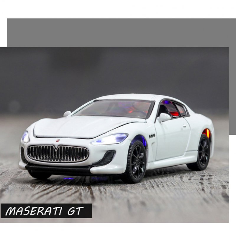 1:32 Children Toy Car Simulation Alloy Body with Light Sound Kids Sports Car Model white