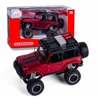 1:32 Doors Open Simulate Alloy Car Modeling Sound Light Toy with Big Wheels for Kids Collection red