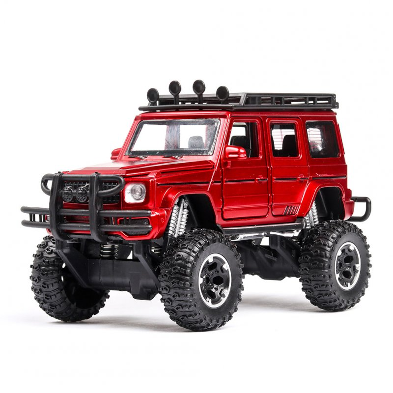 1:32 G63 G500 Metal Alloy Car Model Toy  with light Sound for Kids red