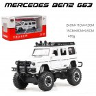 1:32 G63 G500 Metal Alloy Car Model Toy  with light Sound for Kids white