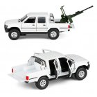 1:32 Hailax Pickup Truck Modeling Alloy Simulation Sound Light Toy white
