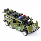 1:32 Kids Police Car Toy with Lights Sounds Effects Alloy Body Hood Trunk Doors Can be Opened Armed Police Car