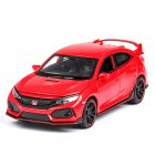 1:32 Pull Back Alloy Car Modeling Door Open Light Sound Toy for Civic TYPE Collection  red