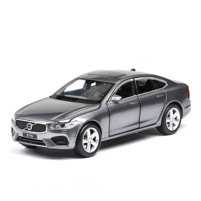 1:32 Simulate Alloy Car Model 6 Doors Open Light Sound Design Toy for Volvo s90 Collection Random Color(Box Packing)