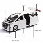 1 32 Simulate Nanny Van Car Shape Modeling Toy for Kids Adults Collection Box Packing  white
