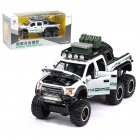 1:32 Simulated Raptor F150 Acousto-Optic Resilient Alloy Model Car Children Toy for Ornament white
