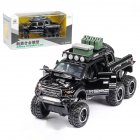1:32 Simulated Raptor F150 Acousto-Optic Resilient Alloy Model Car Children Toy for Ornament black
