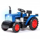1:32 Simulation Farm Tractor Car Model Light Sound Effect Doors Open Alloy Pull Back Auto Toy Gift Collection blue