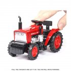 1:32 Simulation Farm Tractor Car Model Light Sound Effect Doors Open Alloy Pull Back Auto Toy Gift Collection red