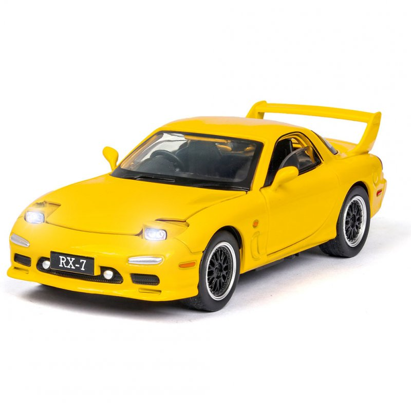 1:32 Simulation Sports Car Children's Racing Vehicle Toy with Sound Light Effect Delicate Christmas Gift yellow