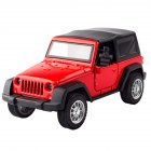 1:36 Kids Simulate Alloy Sound Light Pull Back Car Modeling Toy Jeep comes standard with A red