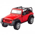 1:36 Kids Simulate Alloy Sound Light Pull Back Car Modeling Toy Jeep comes standard with B red